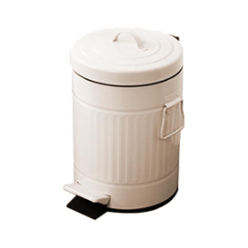 פח אשפה 5 ליטר רטרו – שמנת