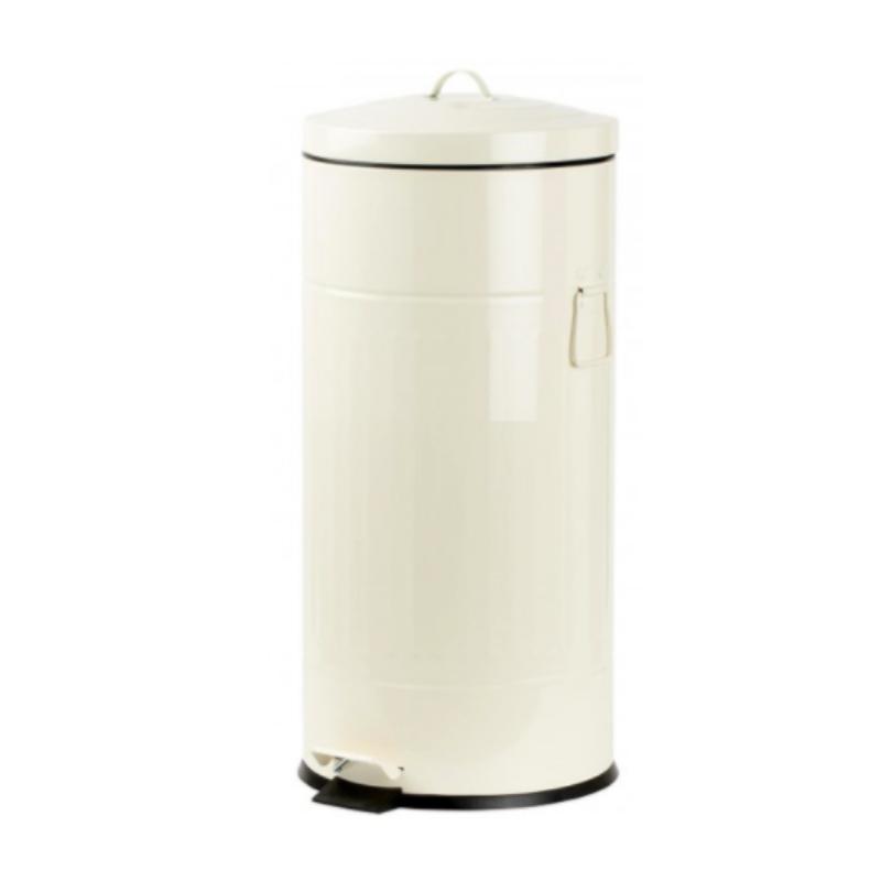 פח אשפה 30 ליטר רטרו – שמנת