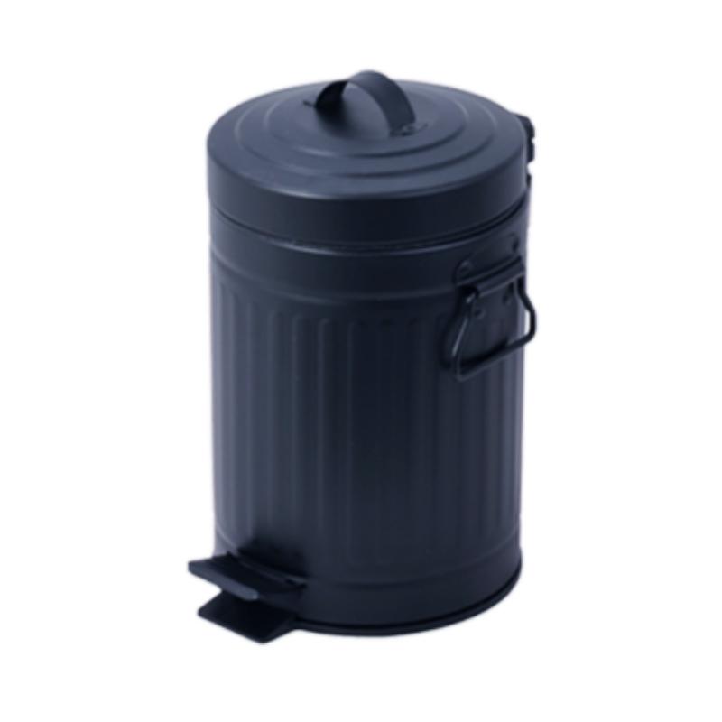 פח אשפה 3 ליטר רטרו – שחור
