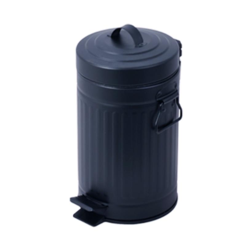 פח אשפה 20 ליטר רטרו – שחור
