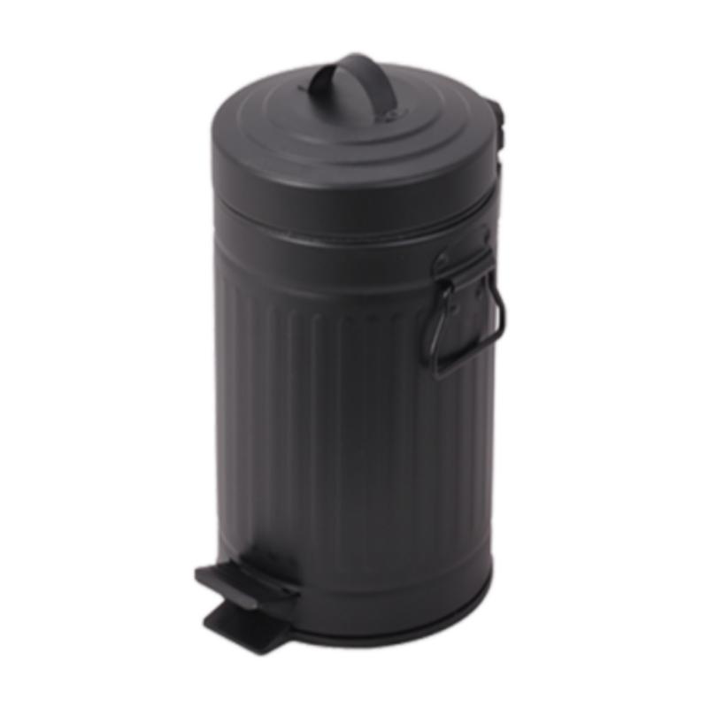 פח אשפה 30 ליטר רטרו – שחור