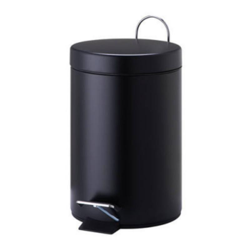 פח אשפה עגול 3 ליטר- שחור