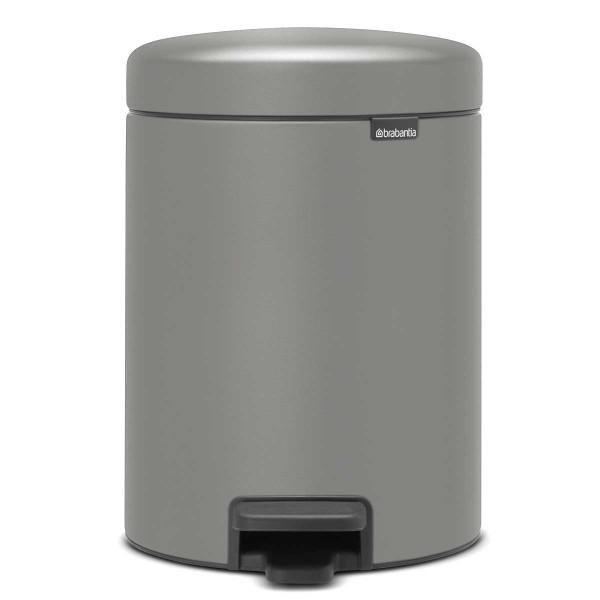 פח פדל 5 ליטר אפור בטון מינרלי Brabantia – NewIcon