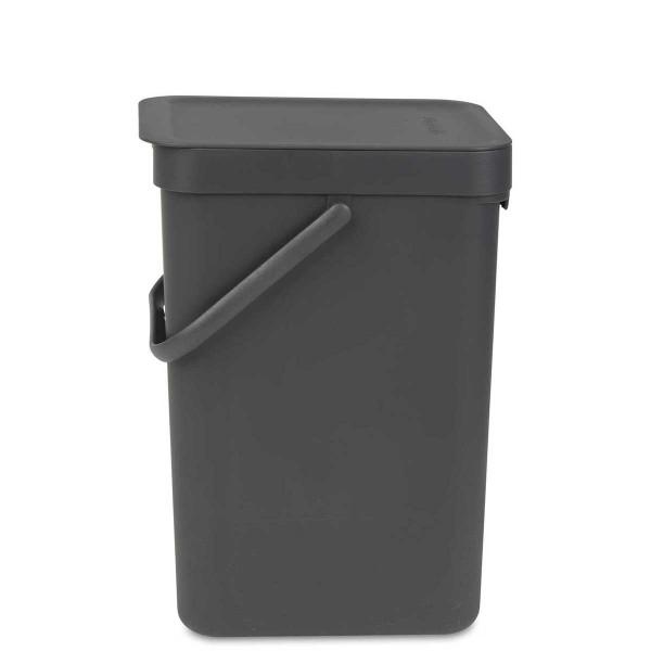 SORT & GO פח הפרדה 12 ליטר פלסטיק, אפור – Brabantia