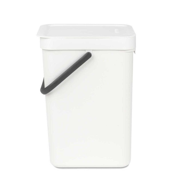 SORT & GO פח הפרדה 12 ליטר פלסטיק, לבן – Brabantia