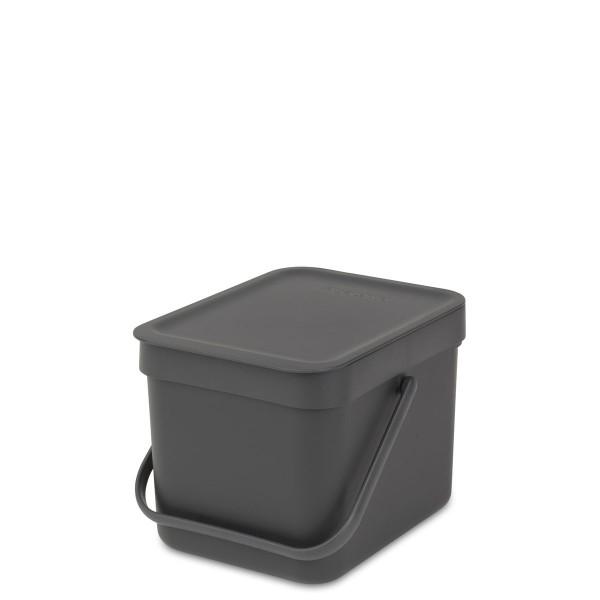 SORT & GO פח הפרדה 6 ליטר פלסטיק, אפור – Brabantia