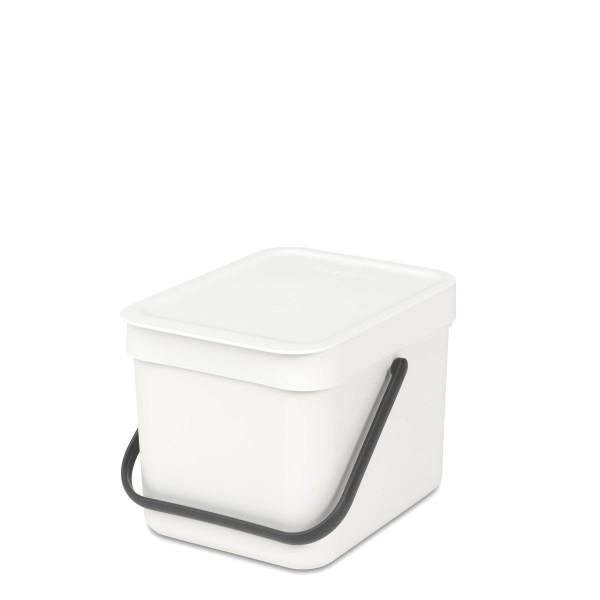 SORT & GO פח הפרדה 6 ליטר פלסטיק, לבן – Brabantia