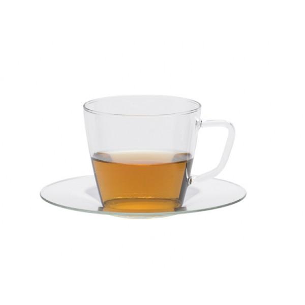 ספל תה מזכוכית – טרנדגלס – Nova + תחתית Trendglas JENA