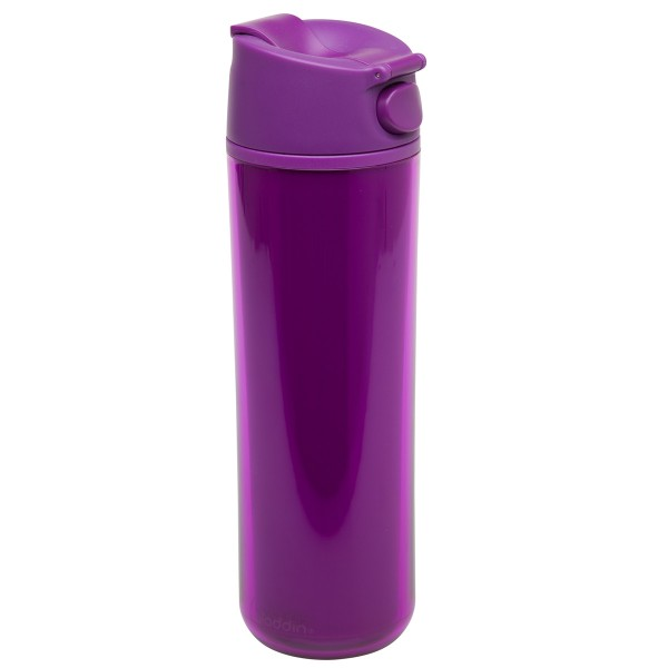 Flip & Sip – אלדין – כוס תרמית סגולה, פלסטיק 0.47 ליטר, ללא BPA