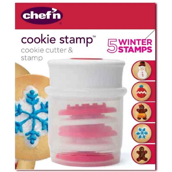 מעצב עוגיות עם חותמות חורף Chef'n