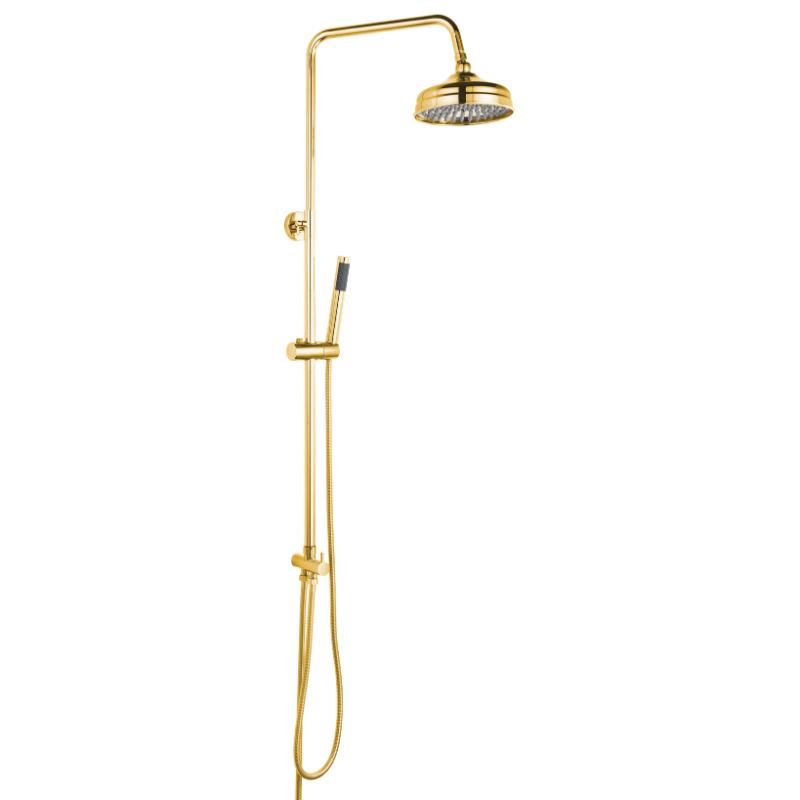 מוט פינוק יוקרתי רטרו עם מזלף מיקרופון זהב מבריק