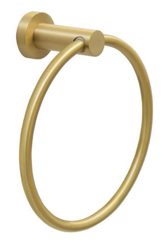 מתלה למגבת צורת טבעת AM14 פליז מוברש AMSTERDAM