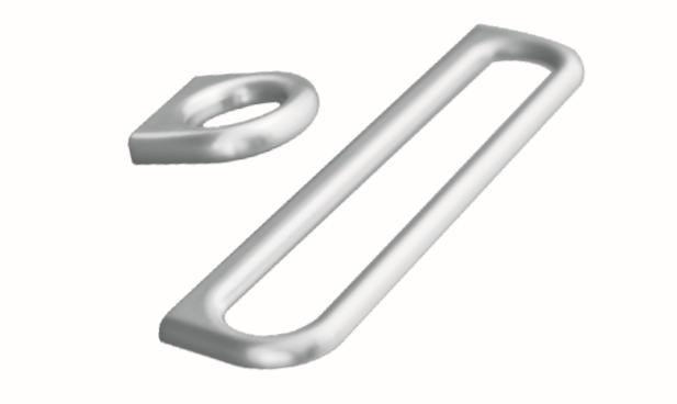 ידית בסגנון מודרני – 54456 Luck – ניקל מט מוברש