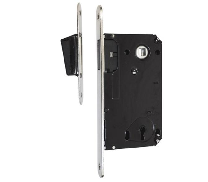 """מנעול חבוי מגנטי מפתח(אפס) לדלתות פנים – דגם """"בר"""""""