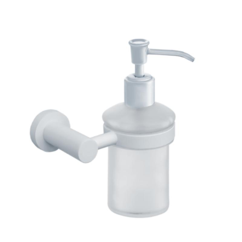 מתקן לסבון נוזלי לקיר אמבטיה ROUND לבן
